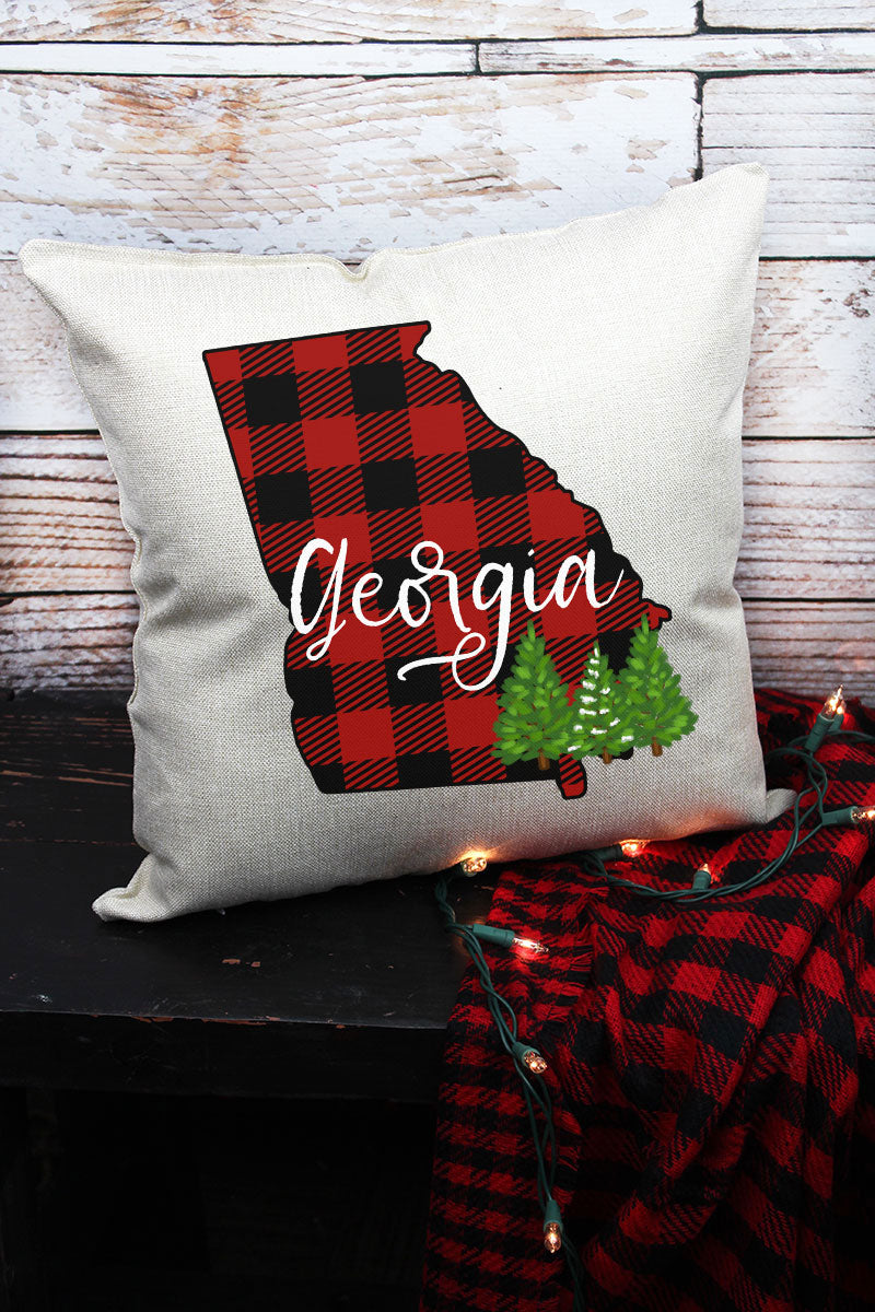Plaid Georgia Decorative Pillow Cover