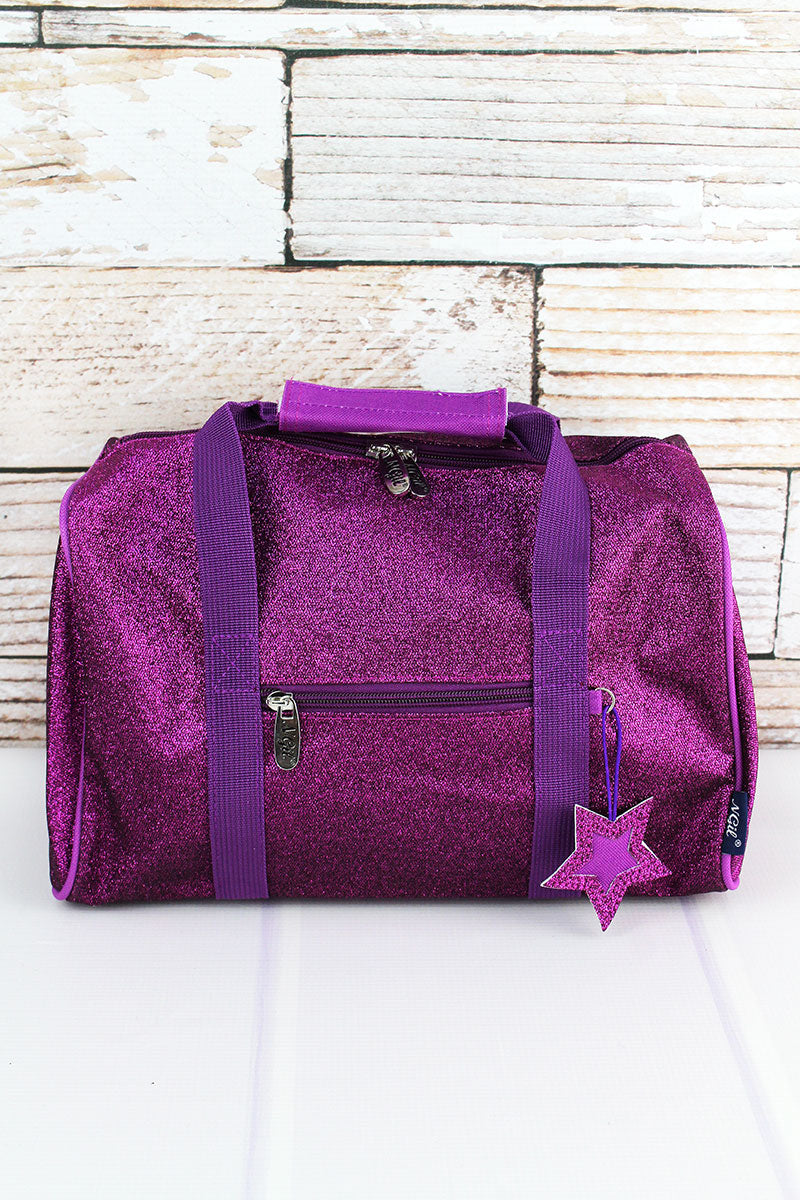 NGIL Purple Glitz & Glam Petite Duffle Bag 12""