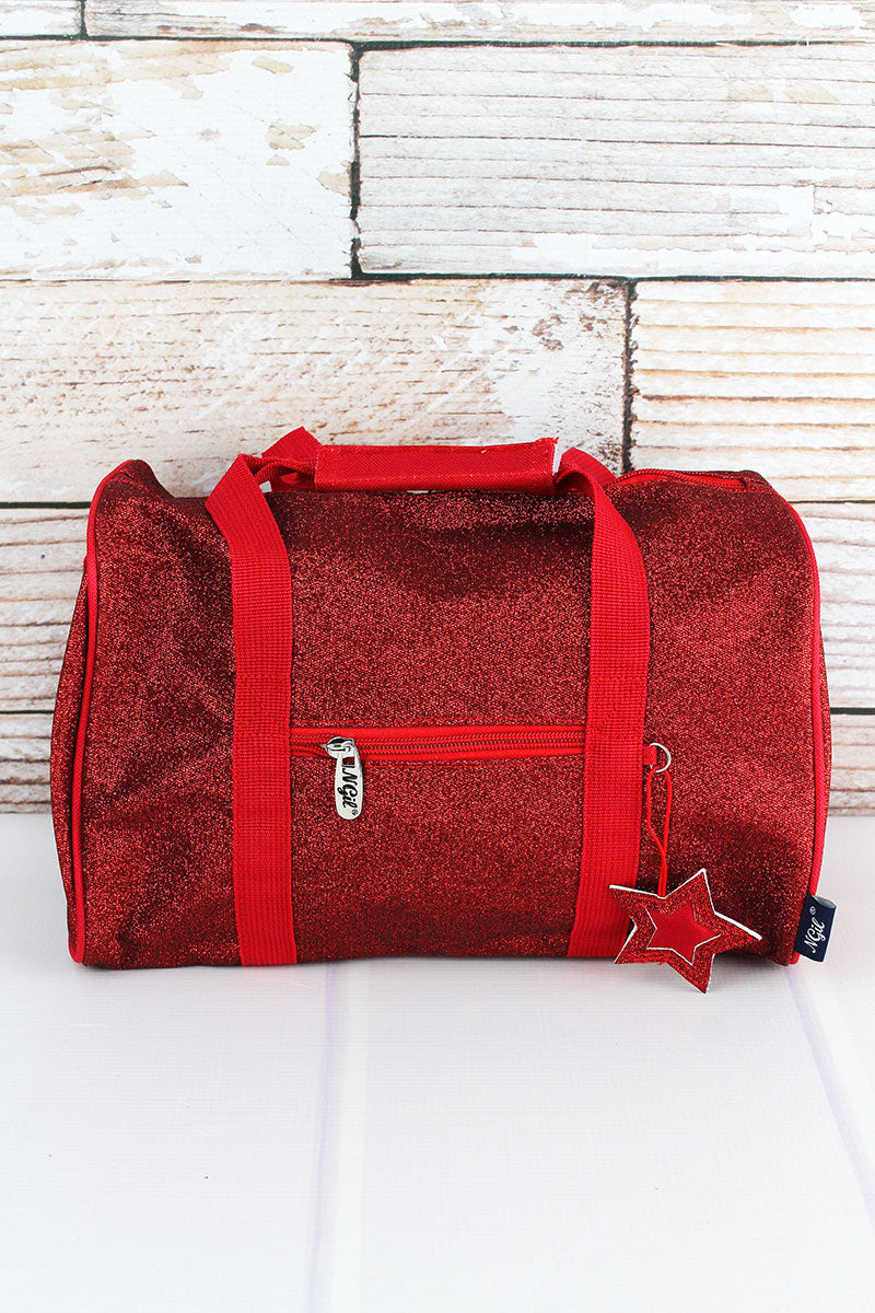 NGIL Red Glitz & Glam Petite Duffle Bag 12""