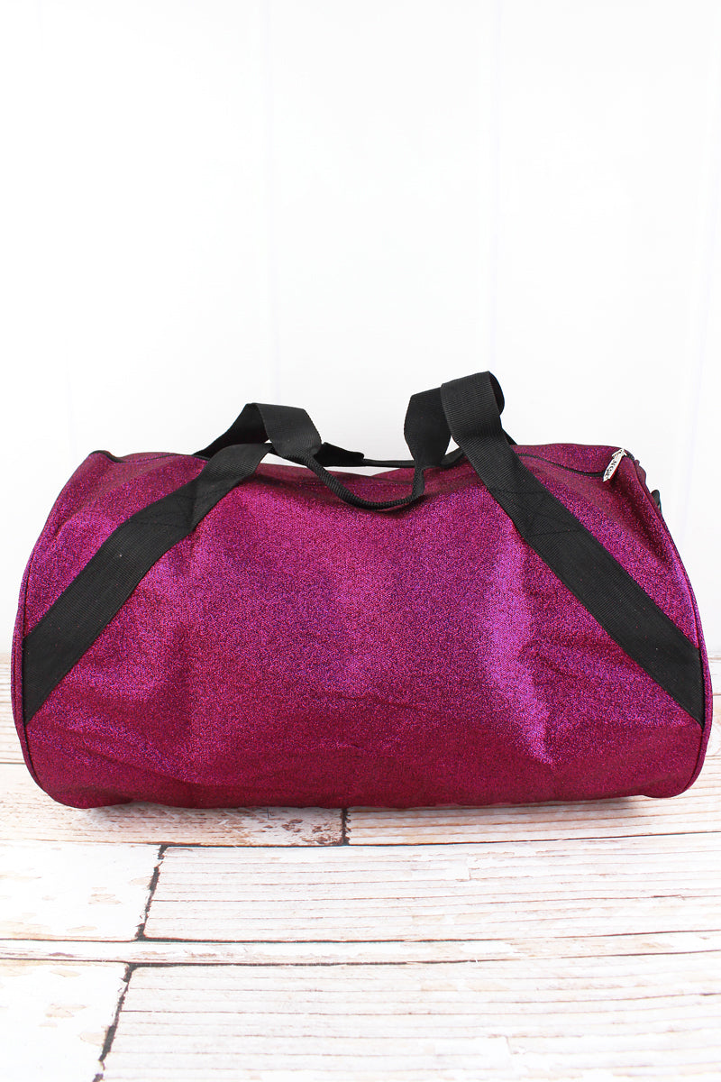 NGIL Hot Pink Glitz & Glam Barrel Duffle Bag 18""