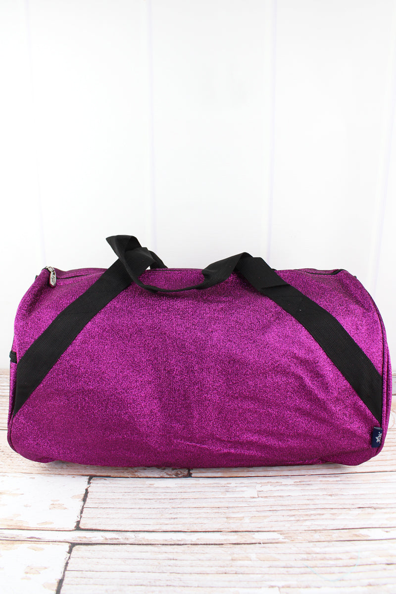 NGIL Purple Glitz & Glam Barrel Duffle Bag 18""