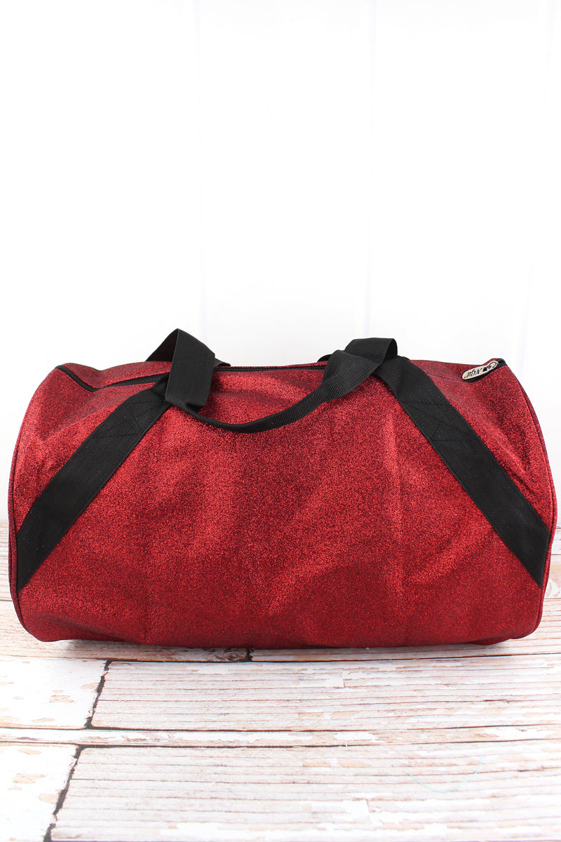 NGIL Red Glitz & Glam Barrel Duffle Bag 18""
