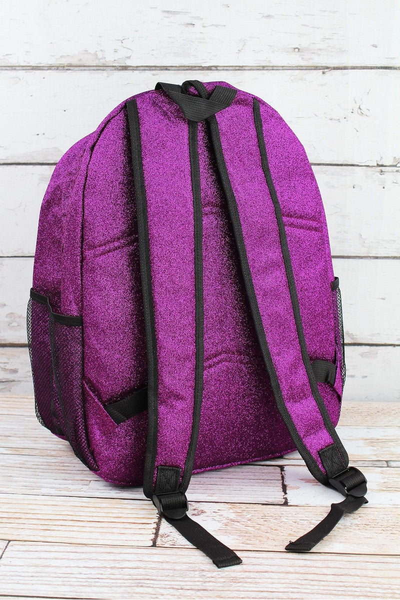 NGIL Purple Glitz & Glam Large Backpack