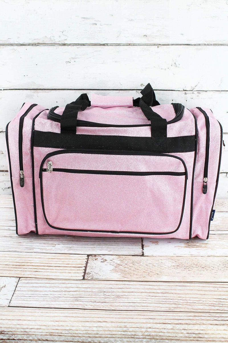 NGIL Pink Glitz & Glam Duffle Bag with Navy Trim 20""