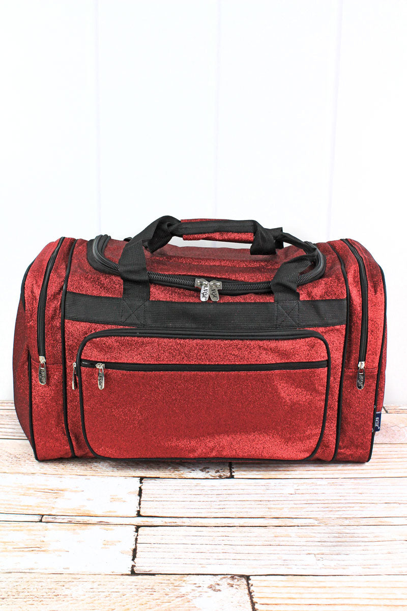 NGIL Red Glitz & Glam Duffle Bag 20""