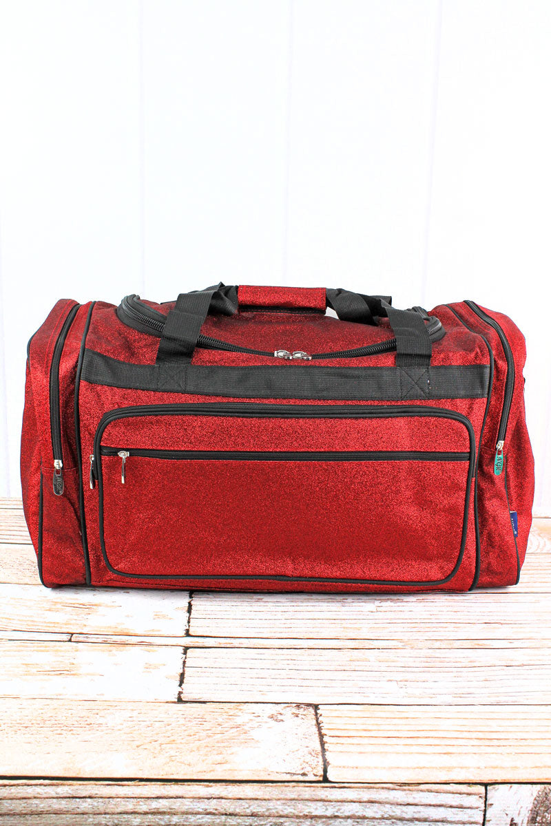 NGIL Red Glitz & Glam Duffle Bag 23""