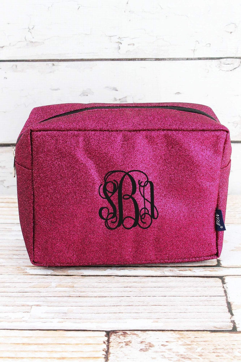 NGIL Hot Pink Glitz & Glam Cosmetic Case