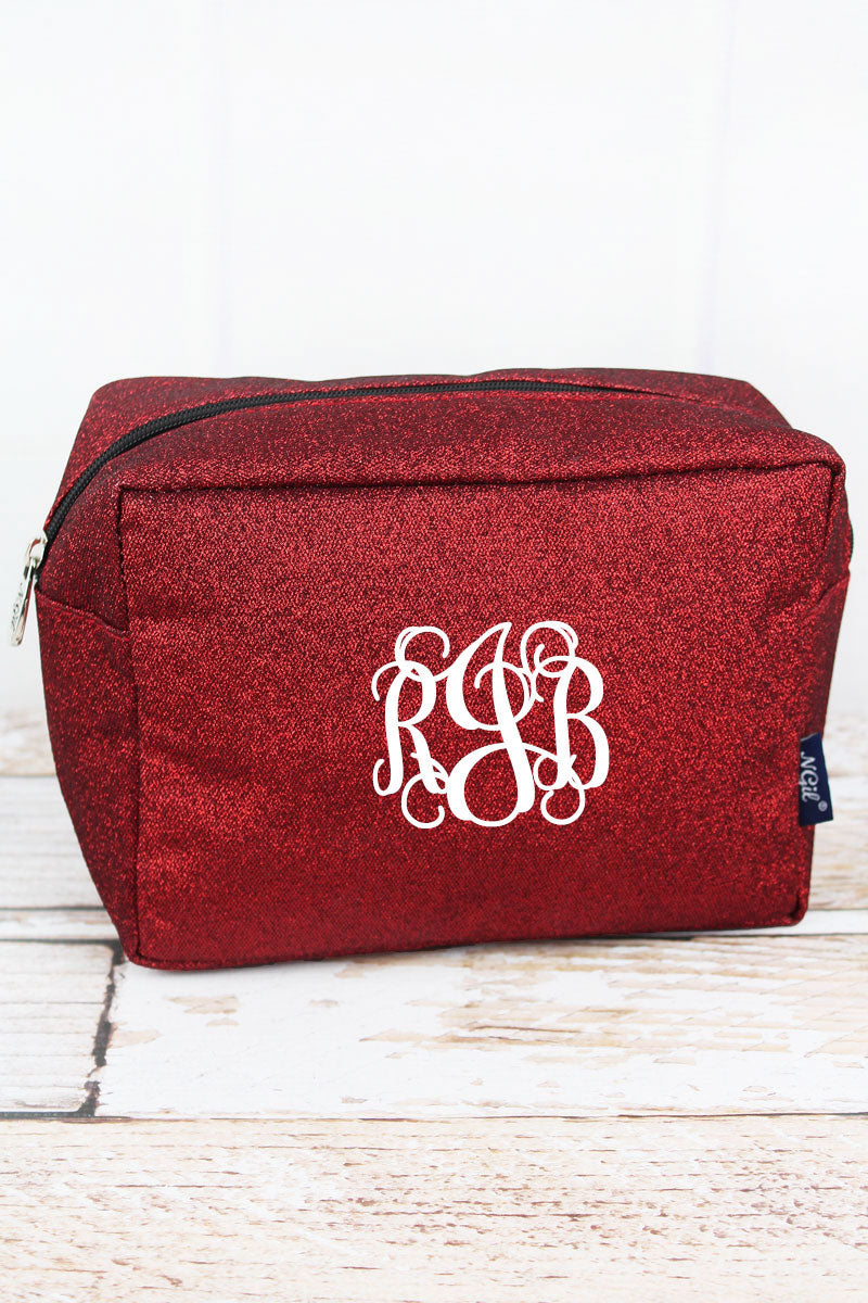 NGIL Red Glitz & Glam Cosmetic Case
