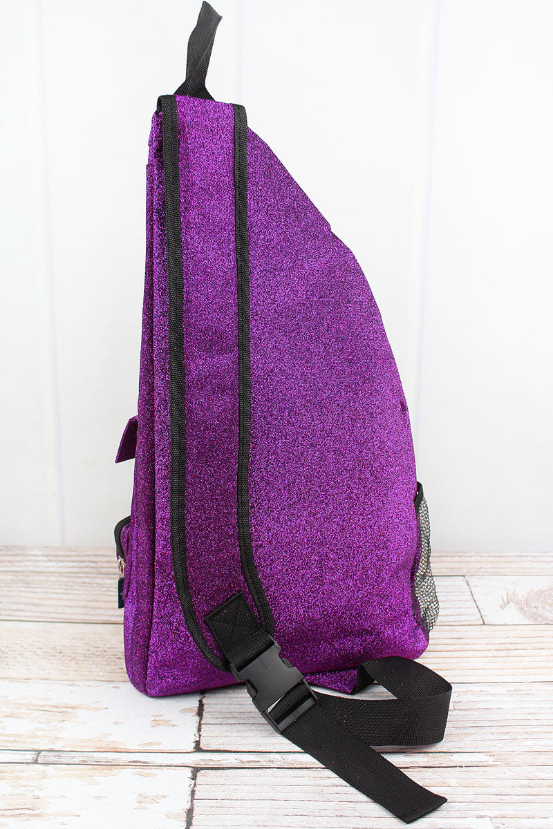 NGIL Purple Glitz & Glam Sling Backpack