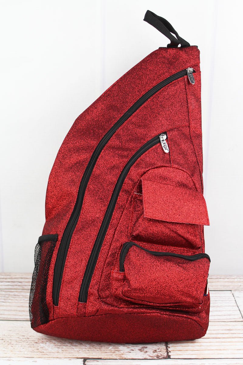 NGIL Red Glitz & Glam Sling Backpack