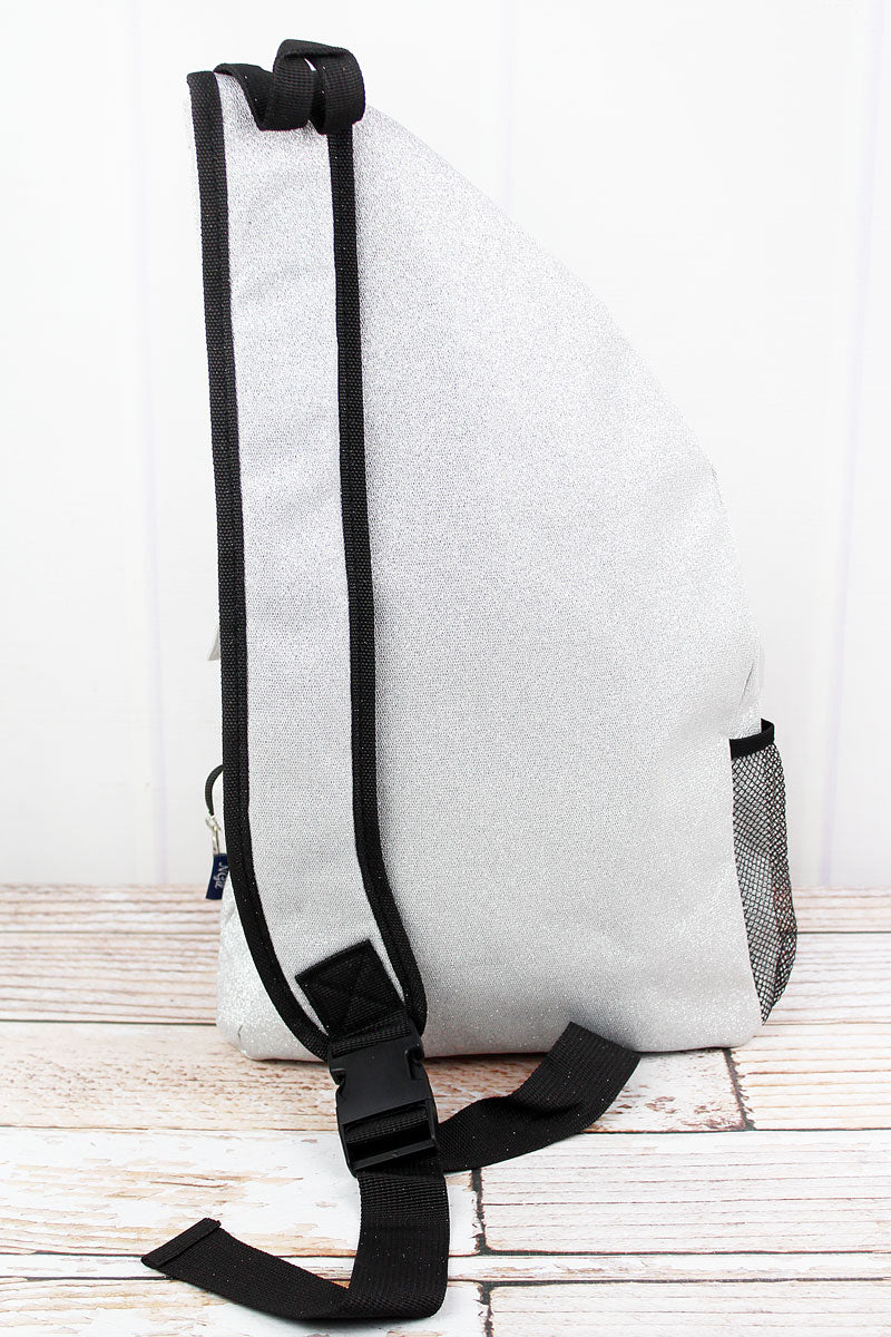 NGIL Silver Glitz & Glam Sling Backpack