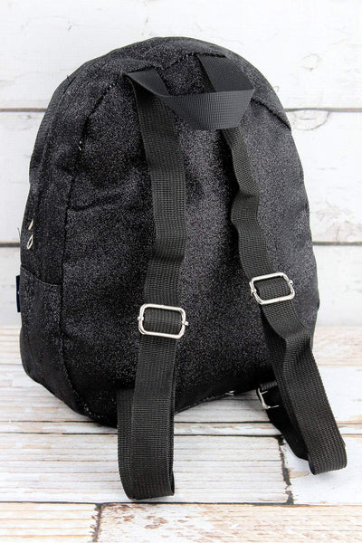 NGIL Black Glitz & Glam Small Backpack