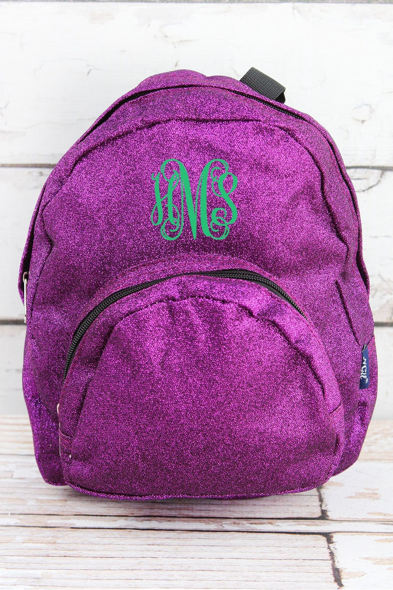 NGIL Purple Glitz & Glam Small Backpack