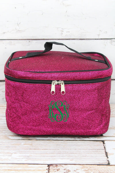 NGIL Hot Pink Glitz & Glam Train Case