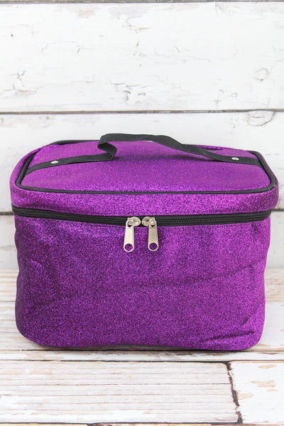 NGIL Purple Glitz & Glam Train Case