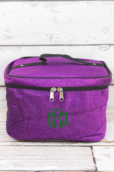 Purple Glitz & Glam Train Case