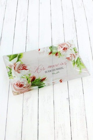 His Mercies Are New Every Morning Glass Trinket Tray Glt013