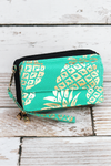 NGIL Metallic Gold Pineapple Paradise Mint Quilted Crossbody Organizer Clutch