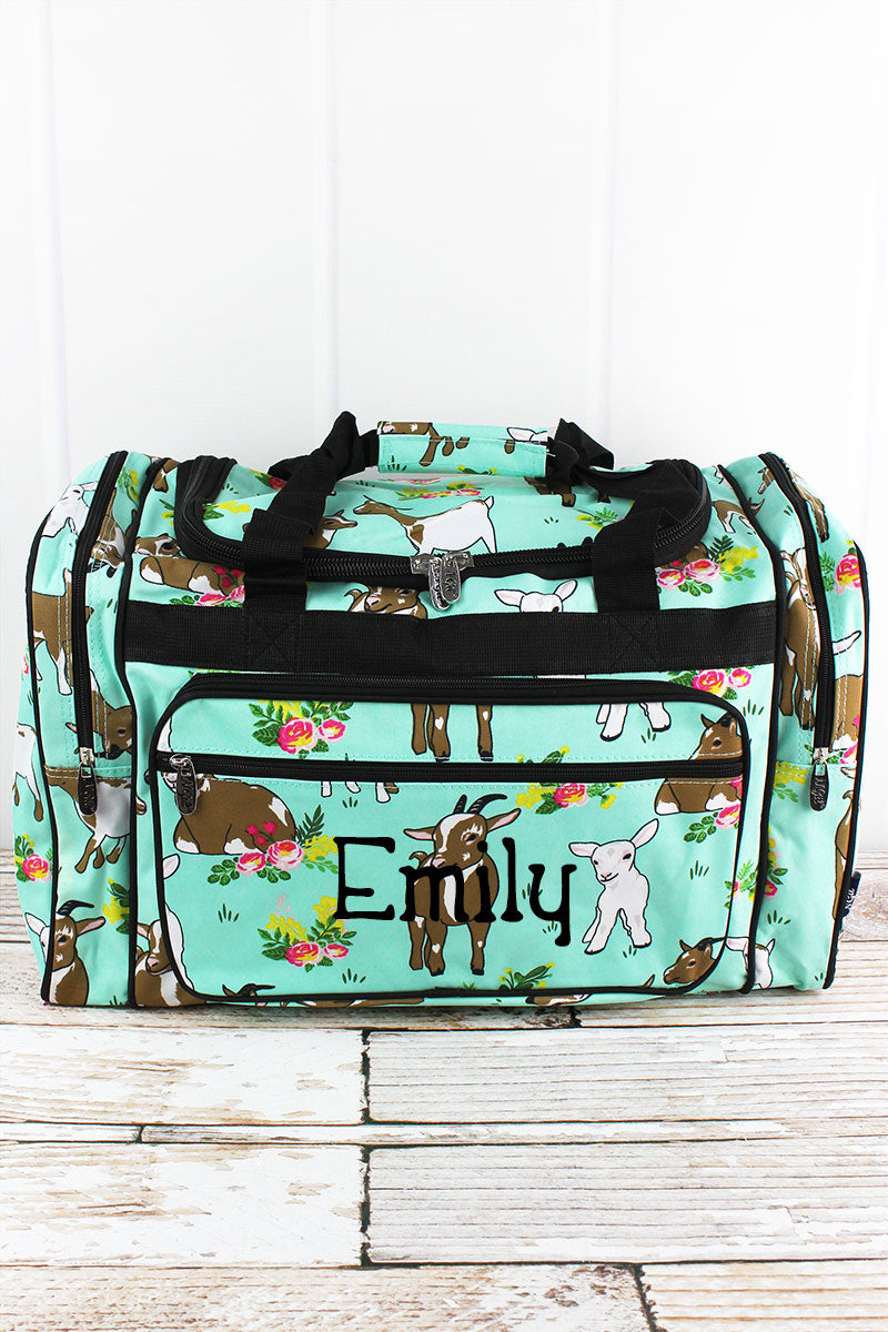 NGIL Giddy Goats Duffle Bag with Black Trim 20""