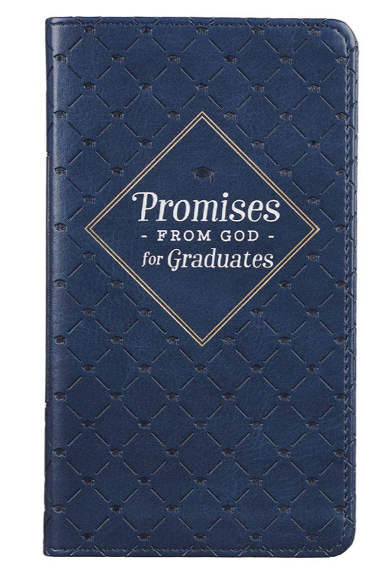 Promises from God for Graduates Navy LuxLeather Book