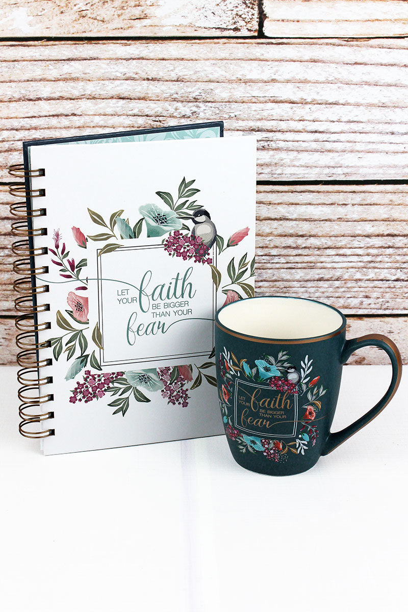 Faith Be Bigger Journal and Mug Boxed Gift Set