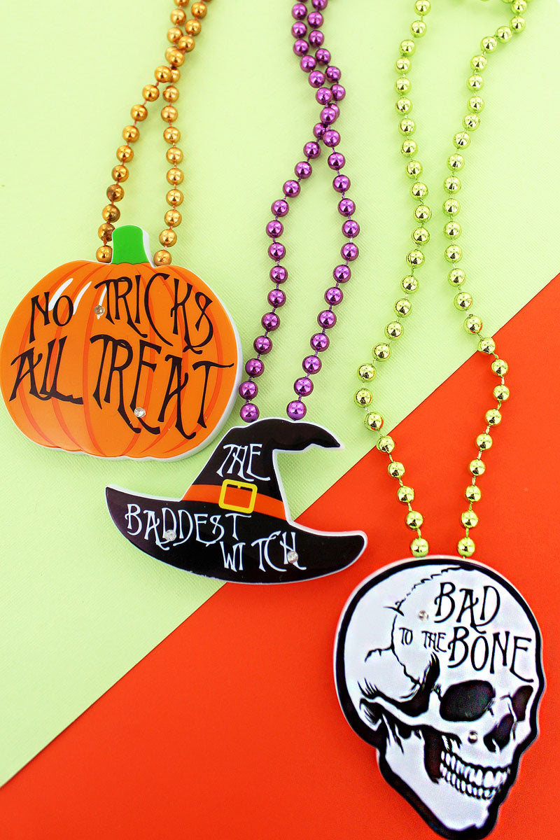 One House Of Horrors Flashin' Fun Necklace - SHIPS ASSORTED
