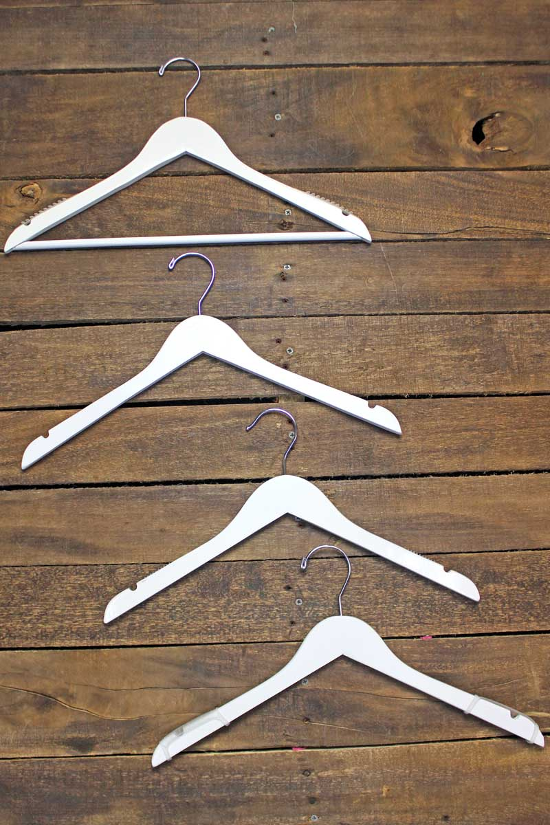 SALE! 10 Assorted White Wooden Hangers - Barely Used