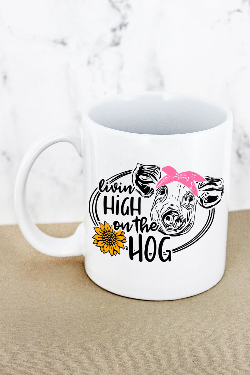 High On The Hog White Mug
