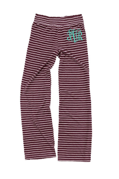 Maroon Stripe Margo Pant #J15MARS *Personalize It (PLEASE ALLOW 3-5 BUSINESS DAYS. EXPEDITED SHIPPING N/A)