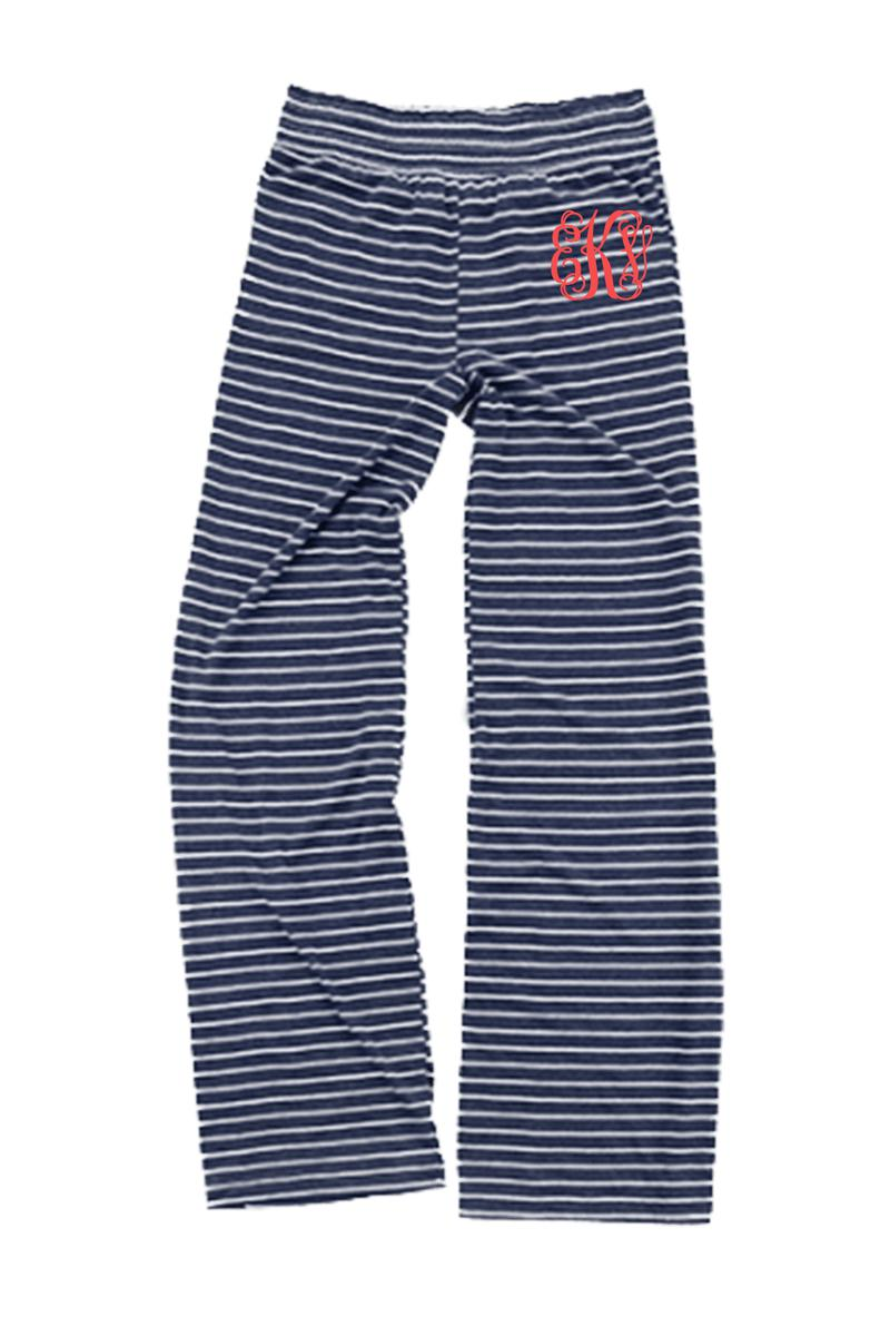 Navy Stripe Margo Pant #J15NS *Personalize It (PLEASE ALLOW 3-5 BUSINESS DAYS. EXPEDITED SHIPPING N/A)