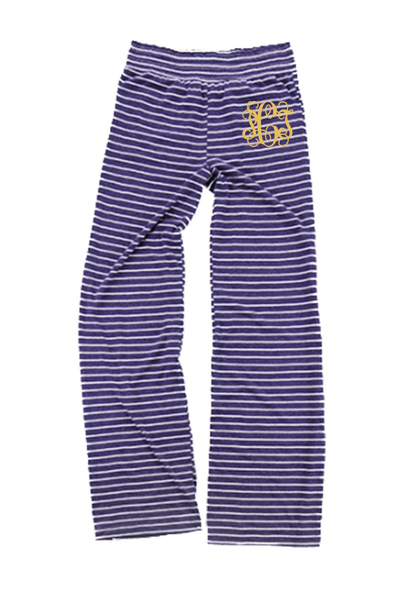 Purple Stripe Margo Pant #J15PS *Personalize It (PLEASE ALLOW 3-5 BUSINESS DAYS. EXPEDITED SHIPPING N/A)