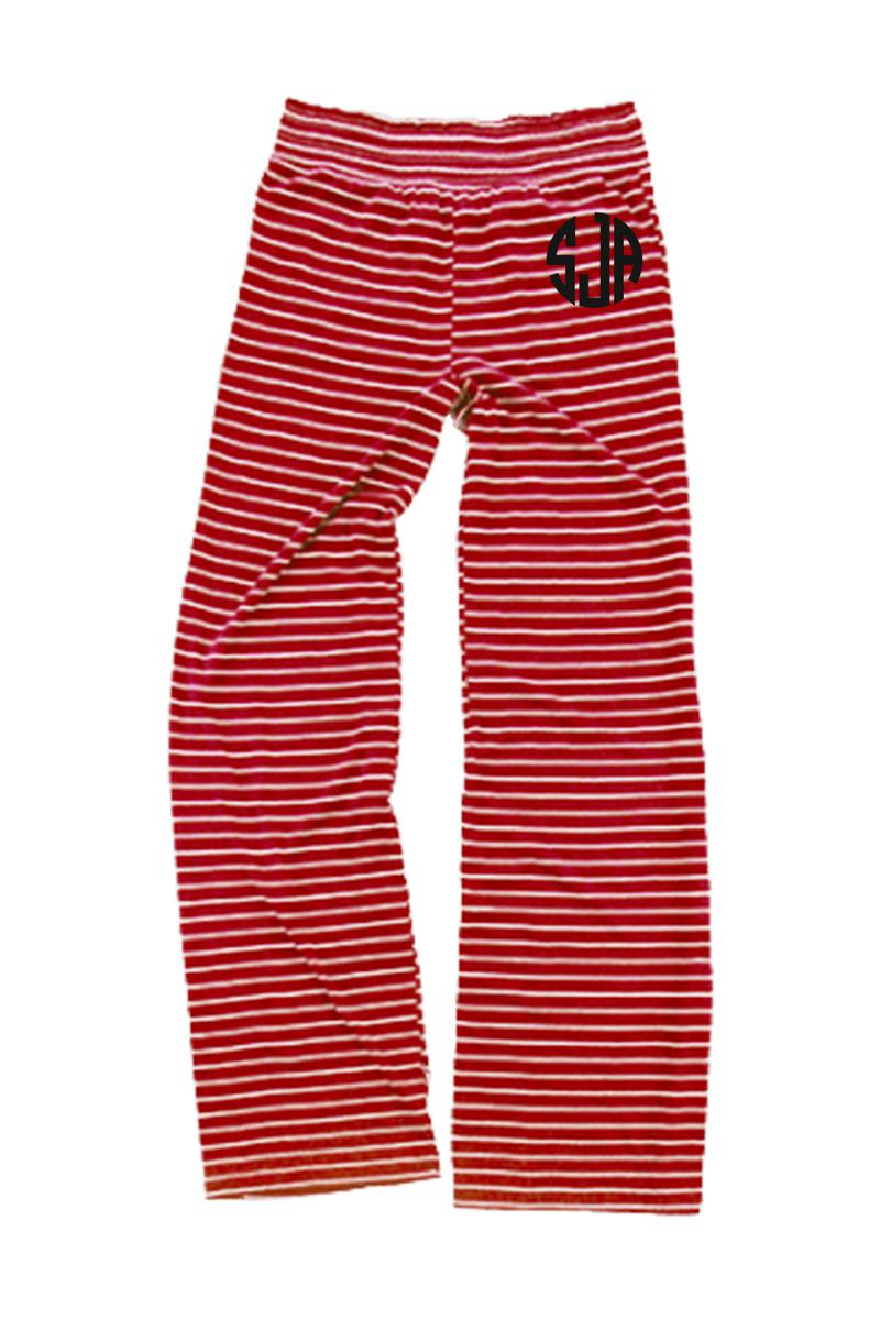 Red Stripe Margo Pant #J15RS *Personalize It (PLEASE ALLOW 3-5 BUSINESS DAYS. EXPEDITED SHIPPING N/A)