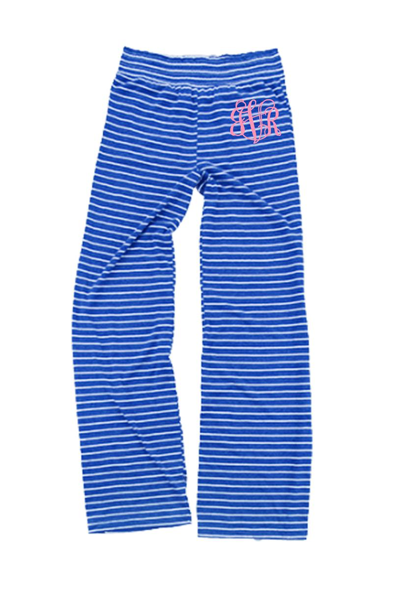Royal Stripe Margo Pant #J15YS *Personalize It (PLEASE ALLOW 3-5 BUSINESS DAYS. EXPEDITED SHIPPING N/A)