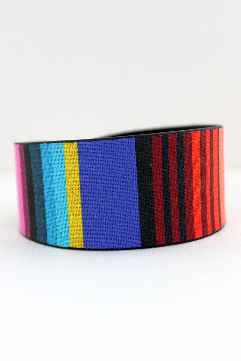 Serape Faux Leather Cuff Bracelet