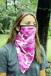 Pink Camo Face Mask Neck Gaiter