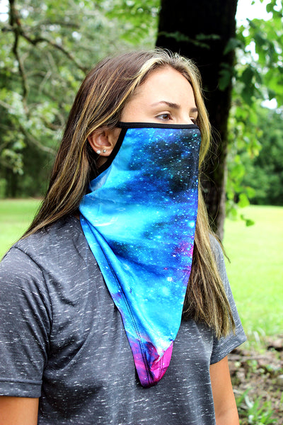 SALE! Blue Galaxy Face Mask Neck Gaiter