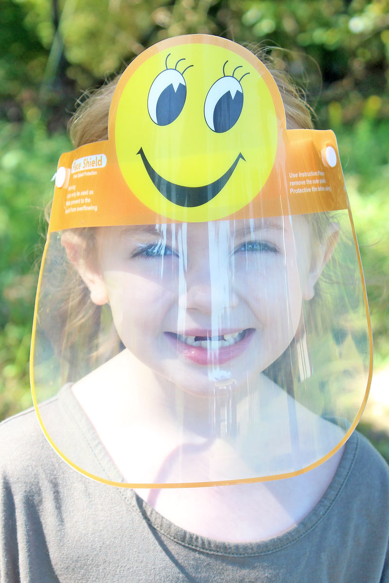 Kid's Smiley Face Face Mask Shield