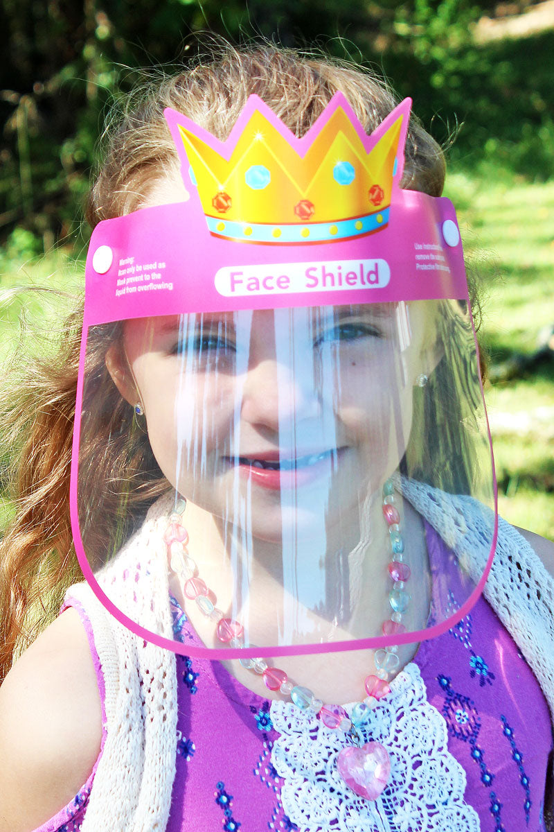 Kid's Princess Crown Face Mask Shield
