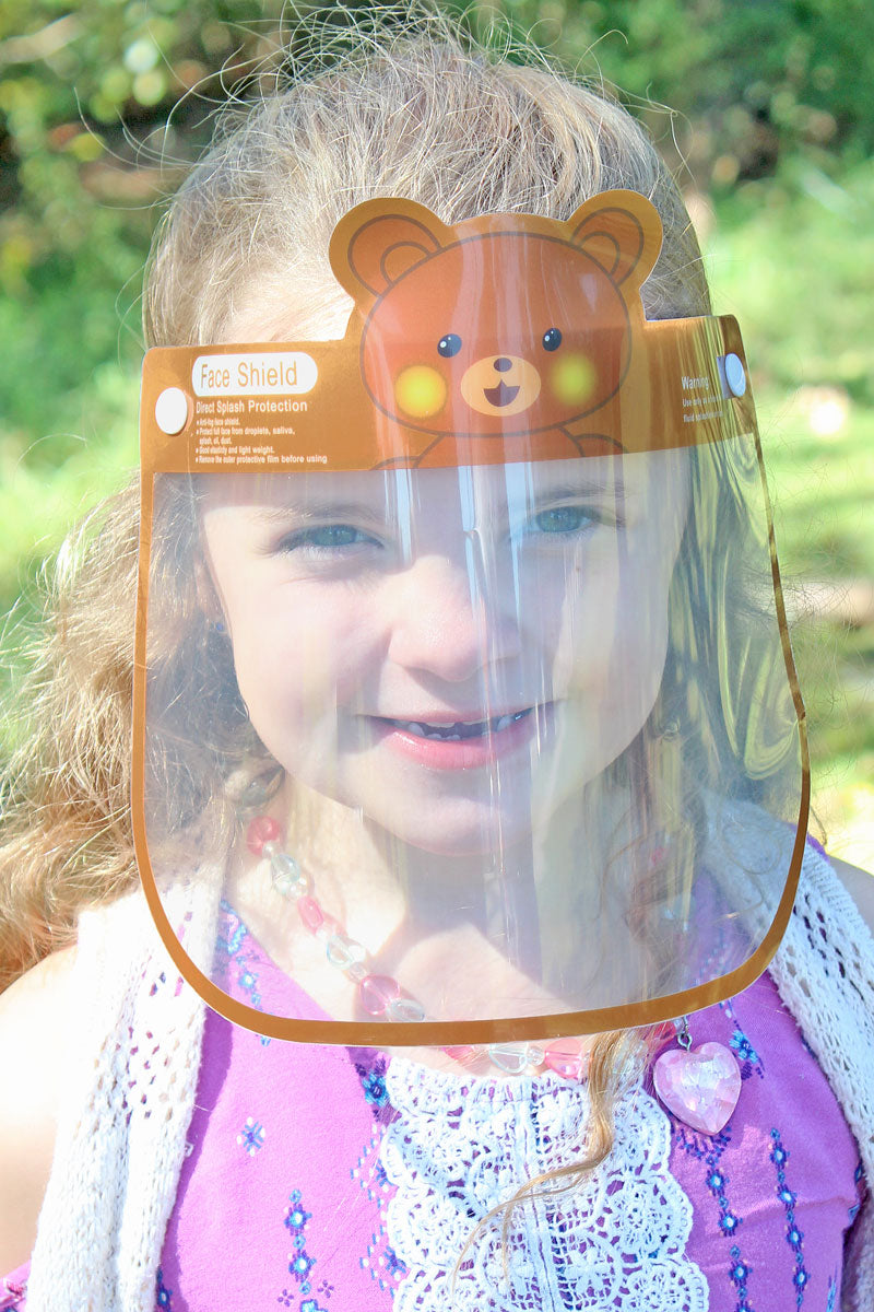 Kid's Teddy Bear Face Mask Shield