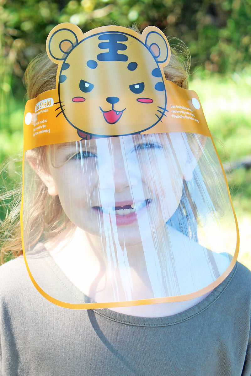 Kid's Tiger Face Mask Shield