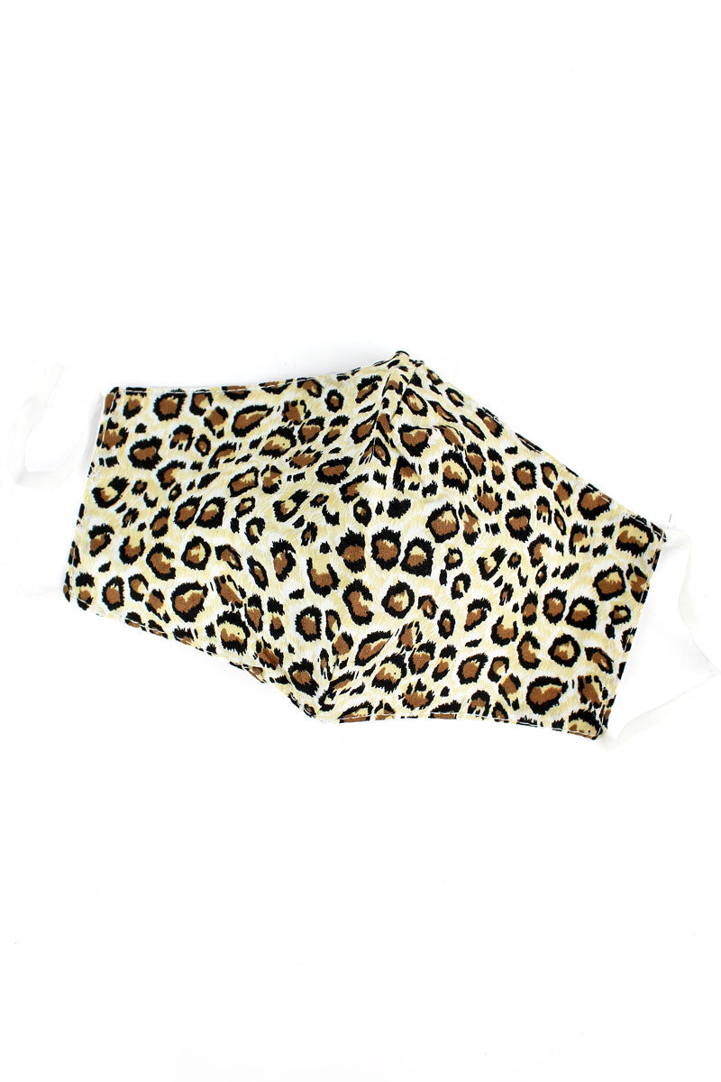 Kid's Leopard Fashion Face Mask with Filter Pocket