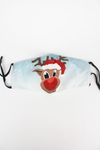Kid's Festive Rudolph Fashion Face Mask with Quilted Filter Pocket