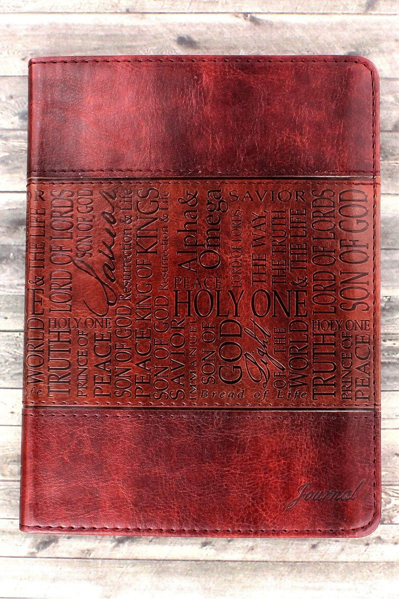 Names of Jesus Tan LuxLeather Flexcover Journal #JL131 - Wholesale Accessory Market