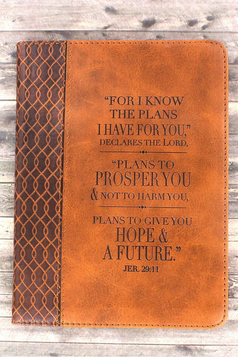 Jeremiah 29:11 Brown LuxLeather Flexcover Journal #JL151 - Wholesale Accessory Market