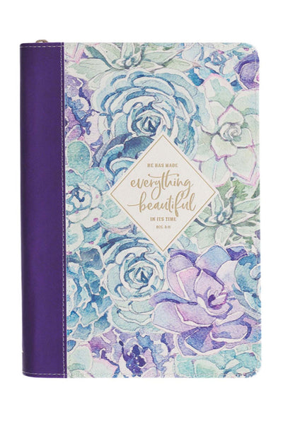 Everything Is Beautiful LuxLeather Flexcover Zippered Journal