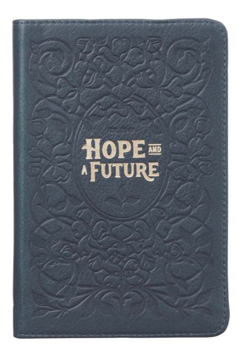Hope And A Future Handy-Sized Full-Grain Leather Journal