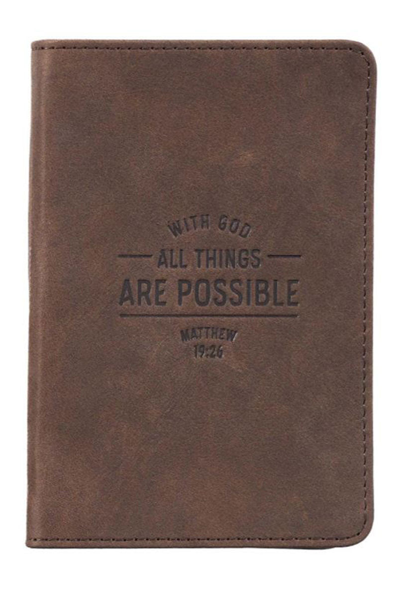 All Things are Possible Pocket-Sized Full-Grain Leather Journal