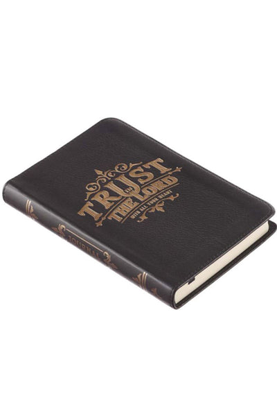 Trust The Lord Handy-Sized Full-Grain Leather Journal