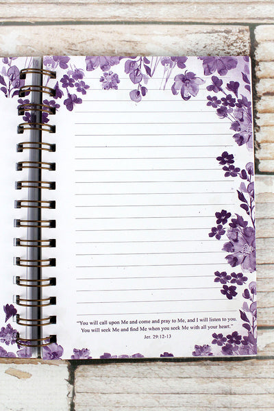 Hebrews 11:1 'Faith' Floral Hardcover Wirebound Journal