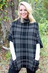 Moose Mountain Poncho Sweater, Gray